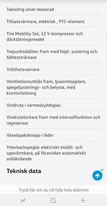 Namn:  Minvolkswagen_utrustning.jpg Visningar: 2014 Storlek:  57.1 KB
